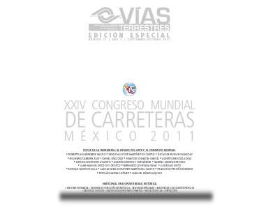 No. 13.- XXIV Congreso Mundial de Carreteras México 2011.